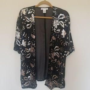 Trendy Sheer Sequined Jacket